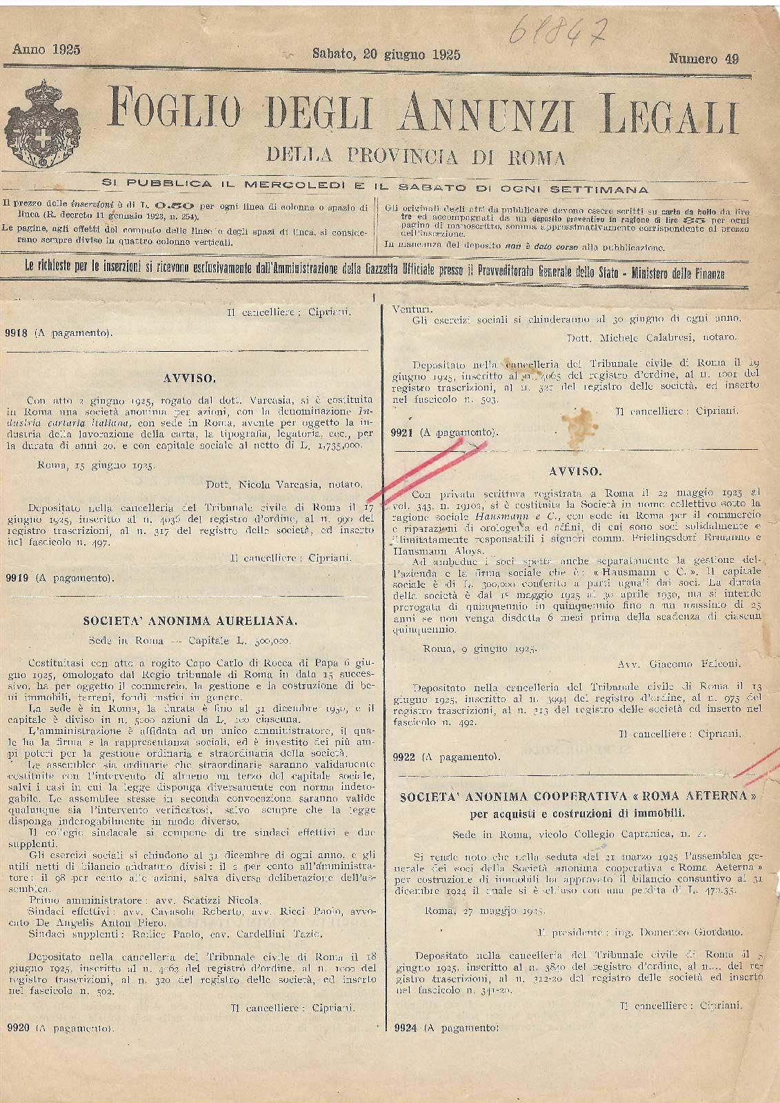 hausmann 1925