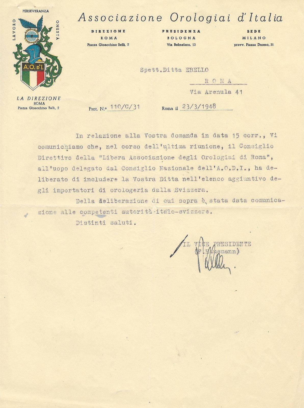 hausmann 1948