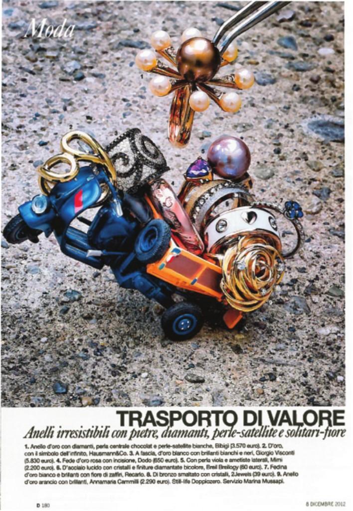 Anello in oro della Collezione Infinito Hausmann & Co. su D di Repubblica