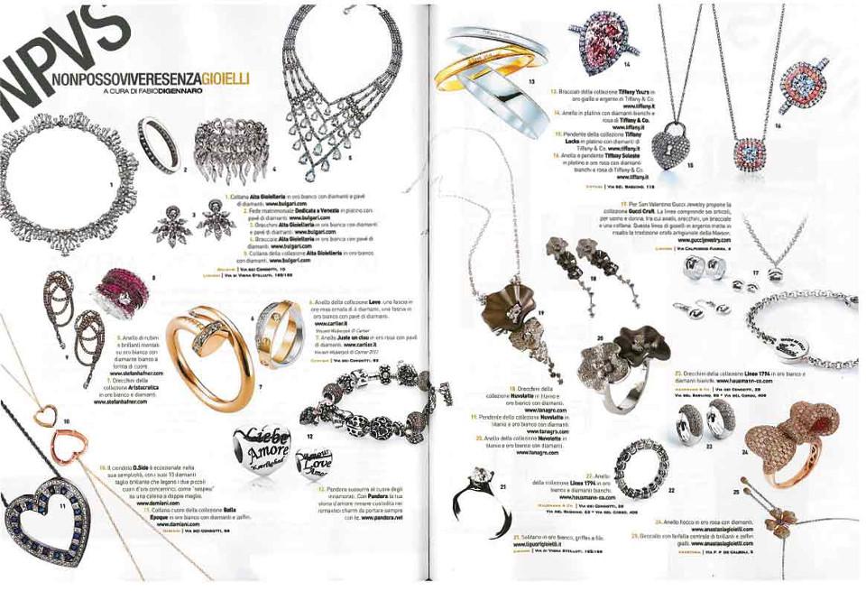 Gioielli Hausmann & Co. della Collezione 1794 su Parioli Pocket: anello e orecchini in oro bianco e diamanti