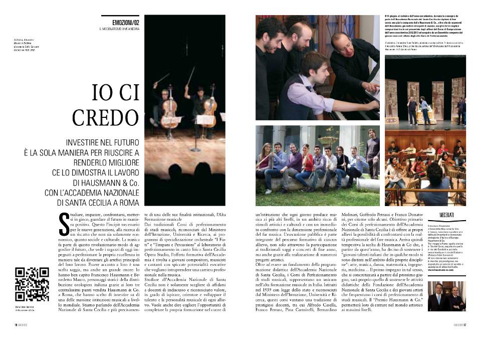 Premio Hausmann & Co. per Santa Cecilia