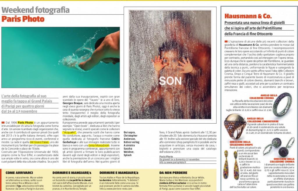 La pagina di Roma Art Magazine con l'articolo sui gioielli Hausmann & Co.