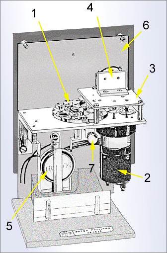 Schema di funzionamento dell'orologio elettrico di Patek Philippe (vedi legenda nel testo)