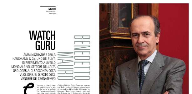 Benedetto Mauro_intervista a Galileus_Hausmann & Co._watch guru_watch expert