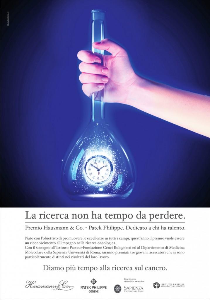Premio Hausmann & Co. Patek Philippe 2014 per la ricerca oncologica in collaborazione con Istituto Pasteur Università La sapienza di Roma Fondazione Cenci Bolognetti Dipartimento Medicina Molecolare