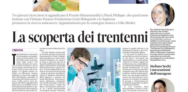 pdf_IlMessaggero PREMIO HAUSMANN 11 Giugno 2014-1_copertina2