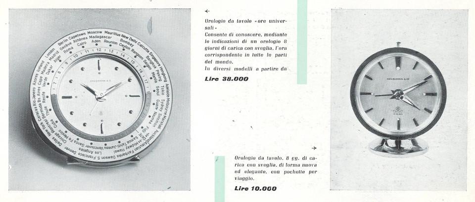 Orologio da tavola con indicazione delle ore del mondo