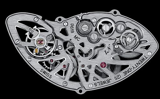 Il calibro squelette 9618 MC del Cartier Crash