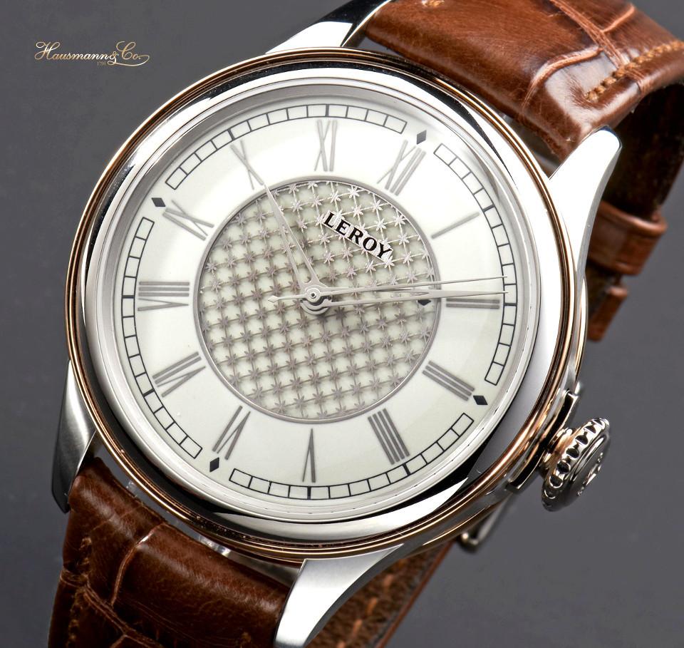 Il sofisticato Chronomètre à Tourbillon di Leroy, con quadrante in smalto che richiama l'orologio storico prodotto per Maria Antonietta