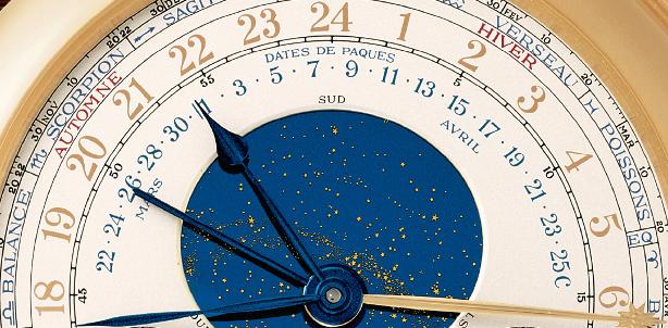 L'indicazione della data di Pasqua, che si aggiusta alla mezzanotte del 1 gennario di ogni anno