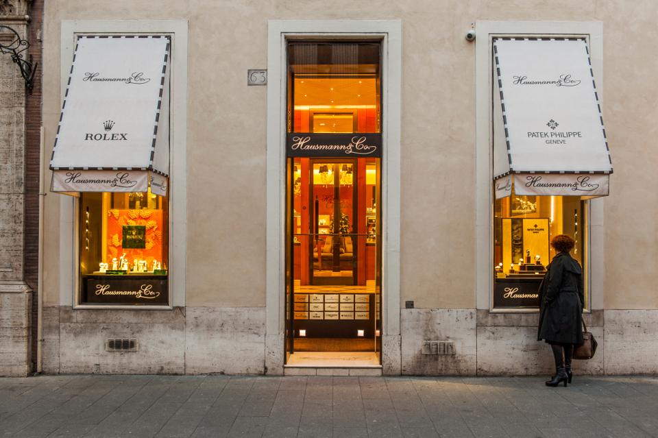 Il negozio Hausmann & Co. di via del Babuino 63, Roma