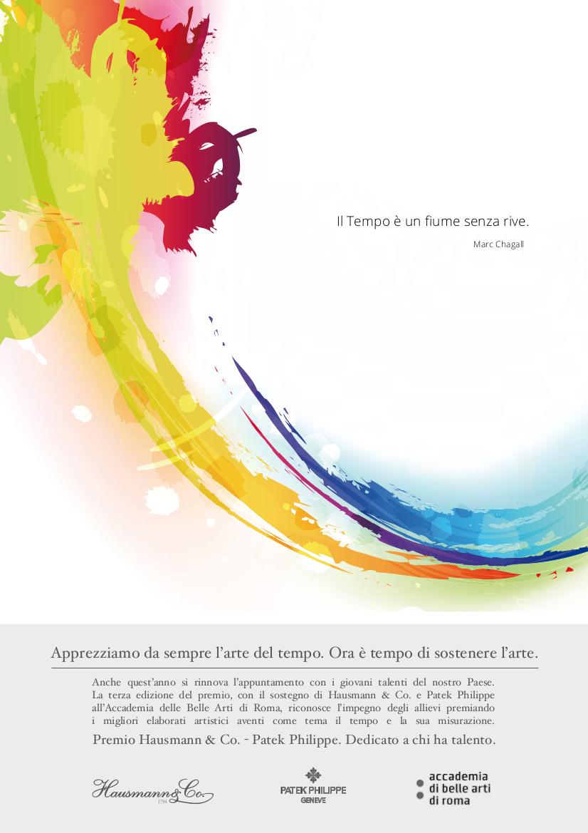 Premio hausmann patek philippe Accademia di belle arti di roma 2015