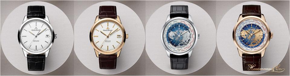 Le novità 2015 della collezione Geophysic: a sinistra, i due modelli di Geophysic True Second; a destra, le due versioni di Geophysic Universal Time