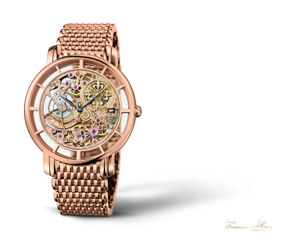 Patek Philippe 5180/1R. In oro rosa, con bracciale a maglie piccole, un classico senza tempo