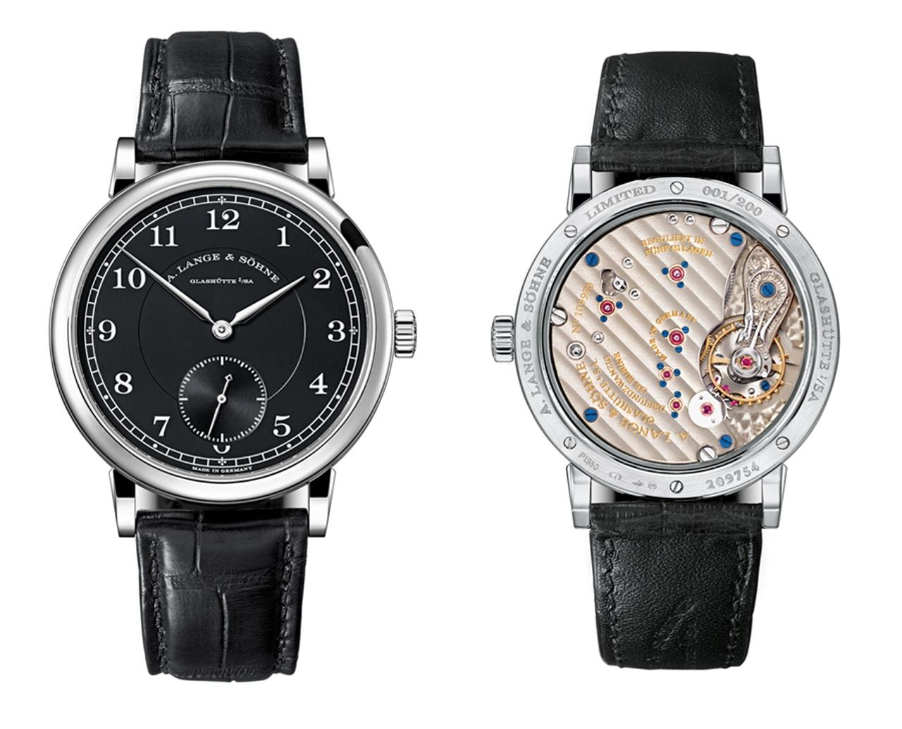 La platina a tre quarti ben visibile attraverso il fondello del 1815. Questo orologio è una edizione limitata, presentata nel 2016 per celebrare i 200 anni dalla fondazione della Manifattura.
