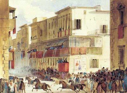 Corsa dei Berberi, Ippolito Caffi