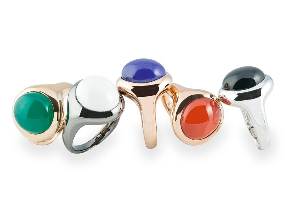 Alcune varianti della collezione di anelli Plenilunio