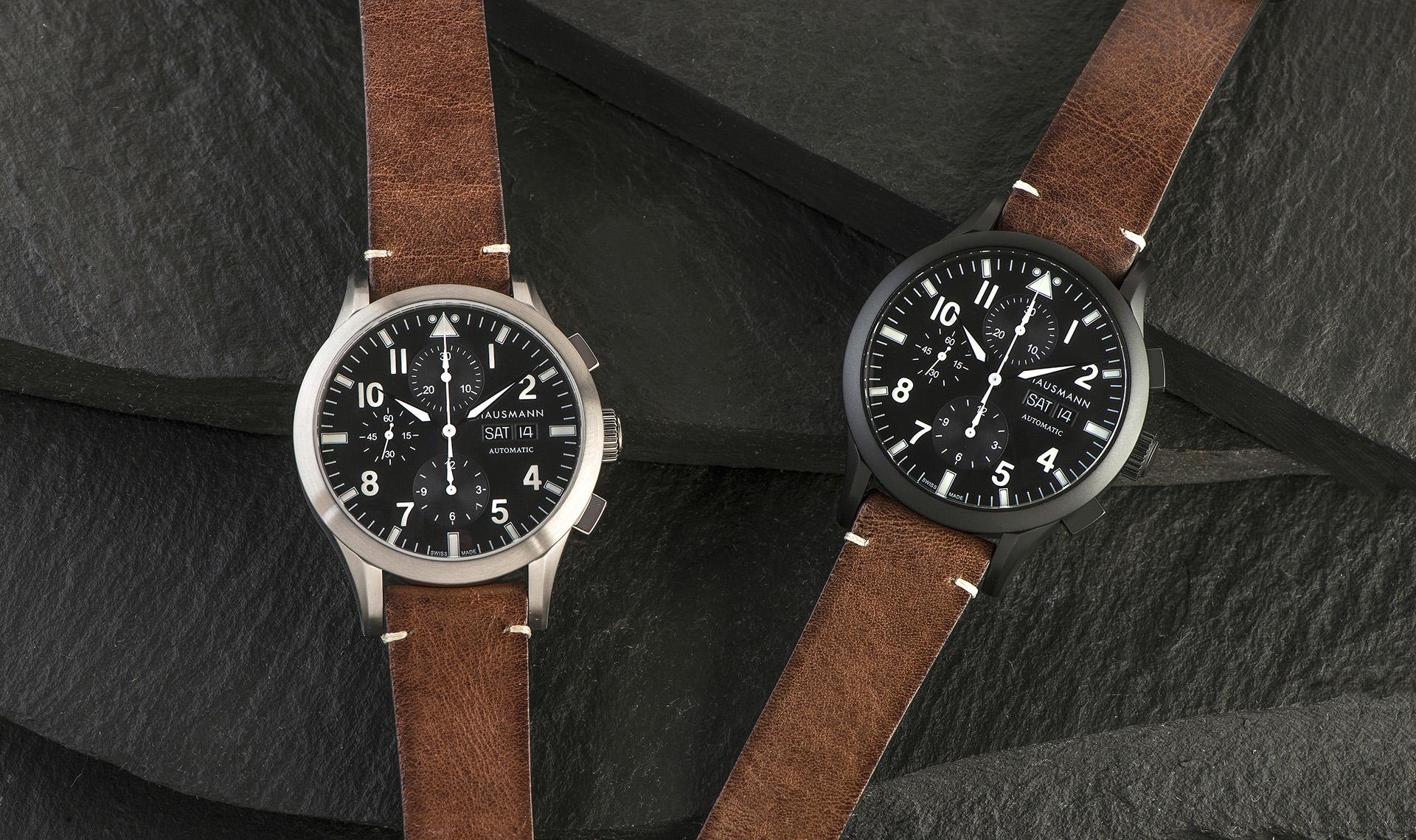 I due modelli di cronografi sportivi firmati da Hausmann & Co. ed ispirati al mondo dell'aviazione