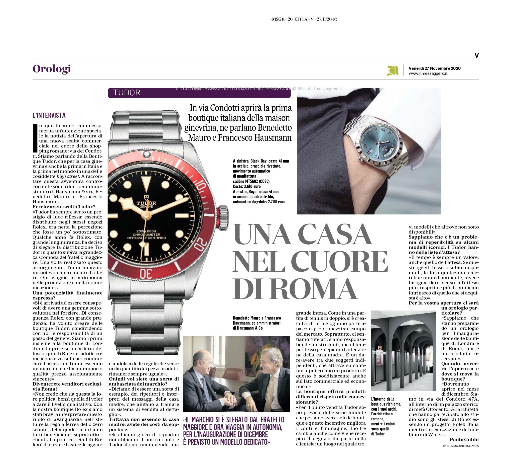 Apertura punto vendita tudor ufficiale Roma