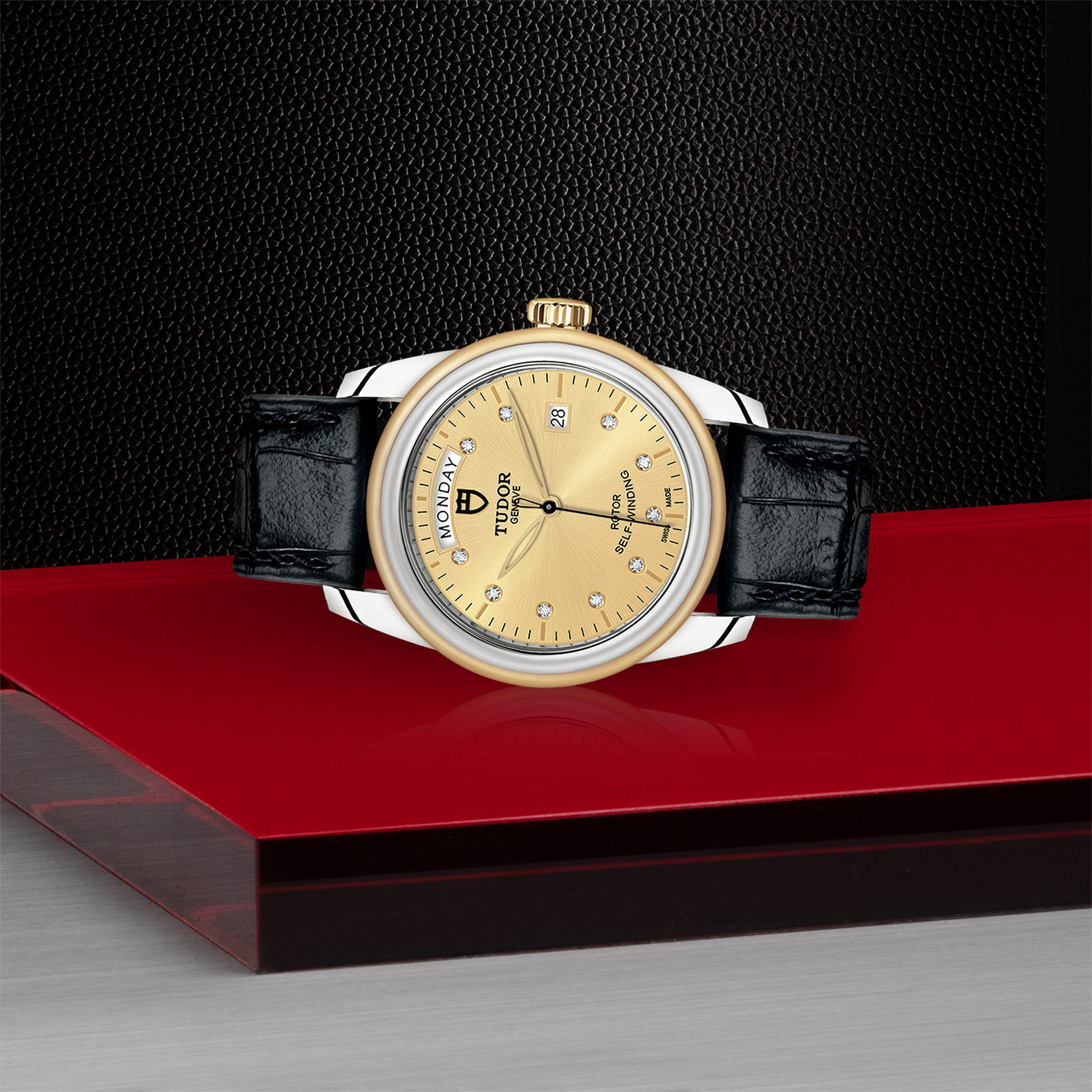 TUDOR Glamour Date+Day - M56003-0035